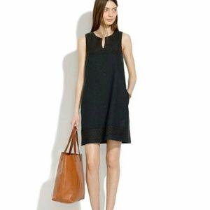 Madewell embroidery sleeveless dress